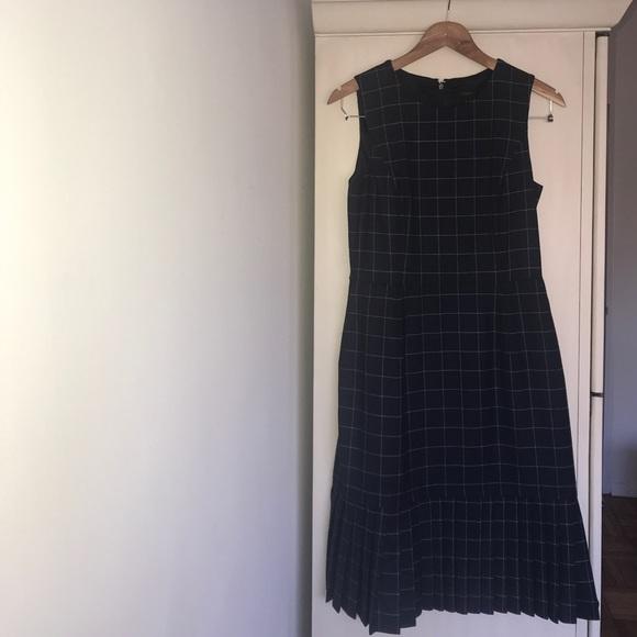 J. Crew Dresses & Skirts - J Crew blue plaid jumper dress